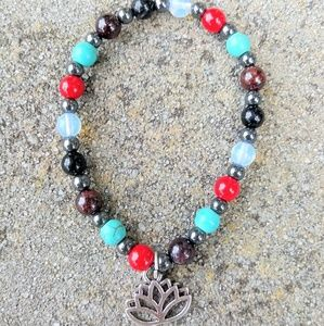 Love Fertility Healing Protecrion Lotus Bracelet